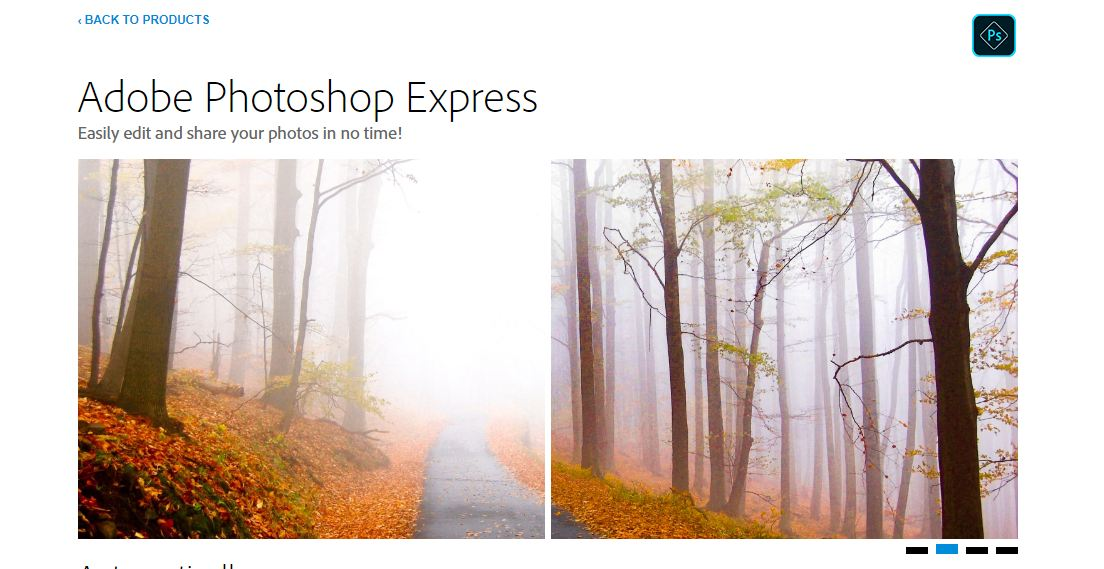 Website chỉnh sửa ảnh trực tuyến Photoshop Express