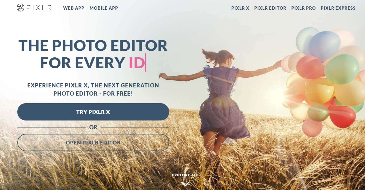Website chỉnh sửa ảnh online Pixlr