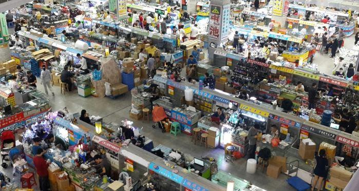 Nhập hàng máy ảnh tại chợ đầu mối Trung Quốc