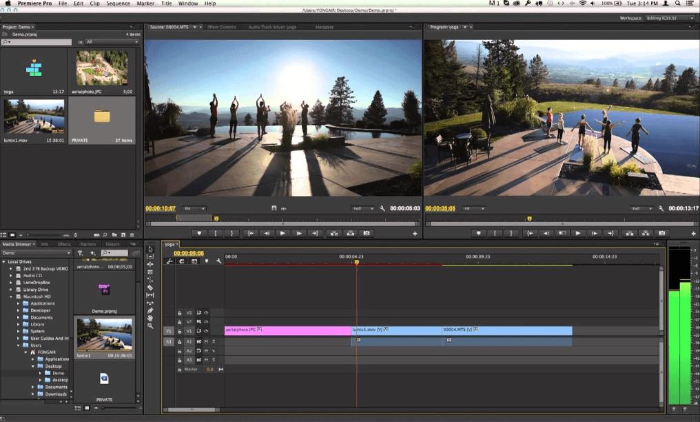 Phần mềm biên tập video Adobe Premiere Pro