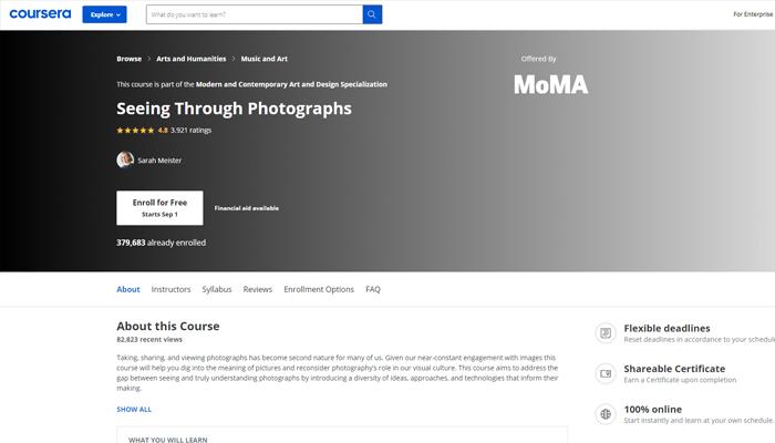 Khóa học chụp ảnh trực tuyến - Seeing Through Photographs (Coursera)
